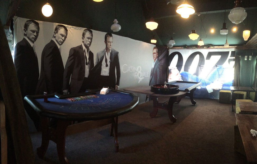 James Bond Casino Night - room with Backdrops