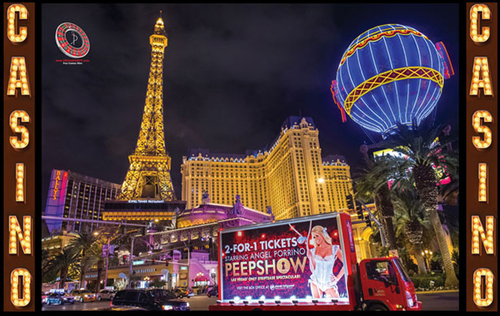 Las Vegas Paris - 10' Backdrop