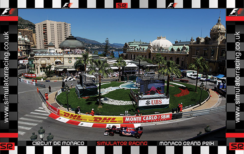 Monaco Casino Roundabout - 10' Backdrop