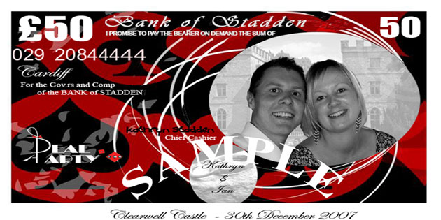 Stadden Wedding Reception - Kathryn Palmer & Ian Stadden's Wedding Reception Casino Money