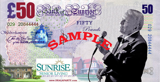 Sunrise Senior Living - Frank Sinatra/ Las Vegas Theme Fundraising Evening - Wolverhampton