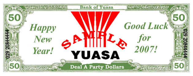 Yuasa Happy New Year Casino Party