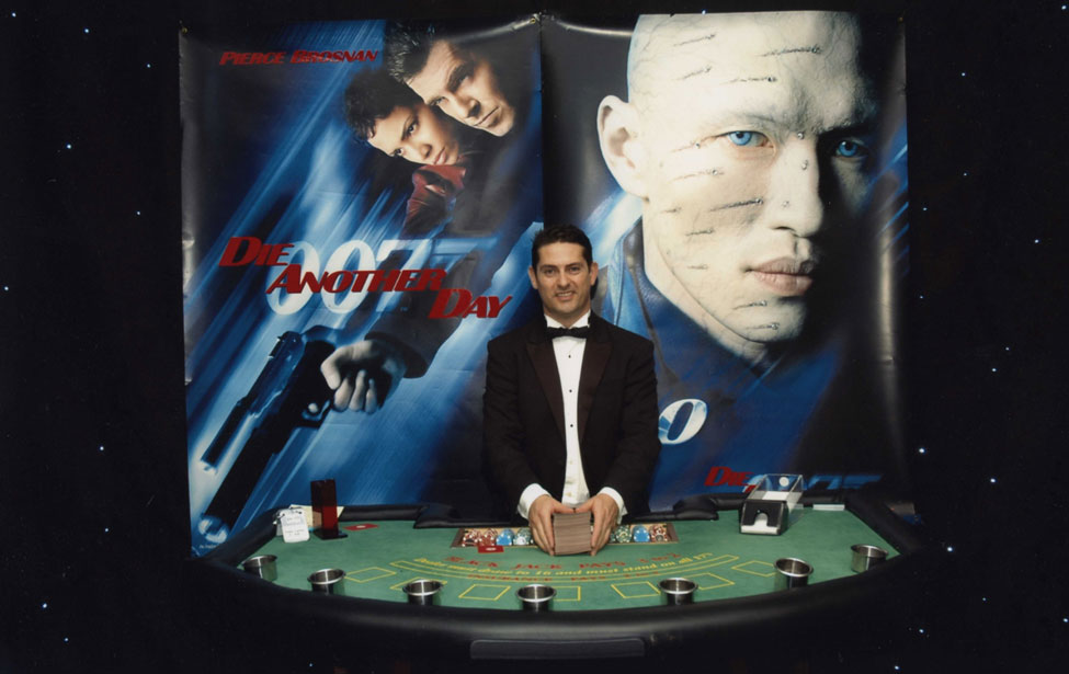Lee - Die Another Day Blackjack Table during 007 Casino Themed Party